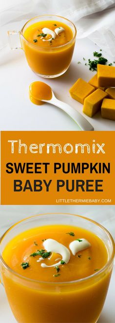 Thermomix Baby Butternut Squash/Pumpkin Puree - You might be asking where should I start with purees for my little one. Look no further - bring on Pumpkin (or Butternut Squash). It's a nutritious, delicious, versatile vegetable. Look at that smooth, luscious texture...delicious! It's velvety , smooth and sweet for your baby. Your baby will love it!