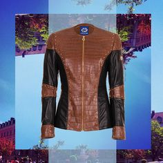 Turns the world upside down - our Crocojacket #leatherjacket #womansfashion #croco