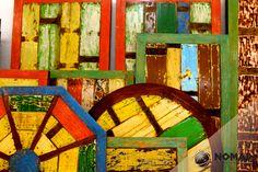 ¿Qué tipo de mesa se adapta a tu espacio? En la Línea Starboard encuentras de todas las formas. Coloridas y hechas con madera de barcos.