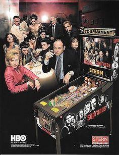 Stern-Pinball-Poster-Flyer-KISS-Metallica-Stones-Playboy-Sopranos-Wrestlemania