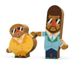 Wood toys by Andrew Kolb, illustrator