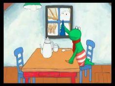 Tekenfilm 'Kikker en de sneeuwman'  (Géén voorgelezen boek, maar echt gespeeld met bewegende beelden)