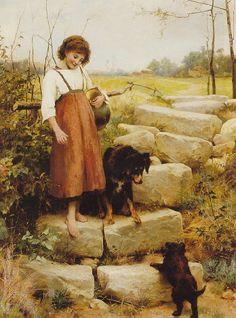 Английский художник George Hillyard Swinstead (1860-1926)