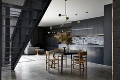Taking Shelter – The Blockhouse by Ha Architects – Project Feature – The Local Project Commercial Interior Design, Commercial Interiors, Black Kitchens, Cool Kitchens, Narrow House Designs, Metal Cladding, Passive Design, Tiny Spaces, Home Decor Kitchen