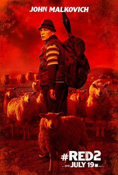 """John Malkovich protagoniza el nuevo poster de """"Red 2"""", secuela de la película estrenada en 2010 y basada en la novela gráfica homónima publicada por DC Comics en 2003."""