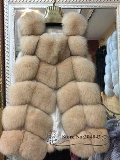 New Winter Genuine Fox Fur Vest Women's Full Pelt Gilet Warm Luxury Real Natural Fox Fur Waistcoat 20150908