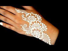 ᴴᴰ White Henna Mehndi Art Mehndi Art, Henna Mehndi, Henna Art, Red Henna, White Henna, Painting Tattoo, Body Painting, Tattoo Cream, Henna Cones