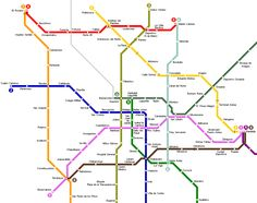 awesome Mexico City Metro Map
