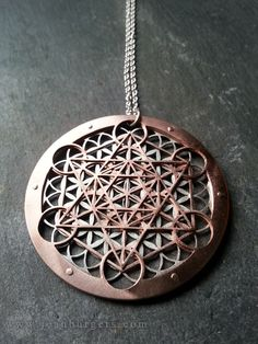 Large Metatron's Cube and Flower of Life Pendant - sterling silver, copper and 9ct gold. by JeanBurgersJewellery on Etsy https://www.etsy.com/listing/171849290/large-metatrons-cube-and-flower-of-life