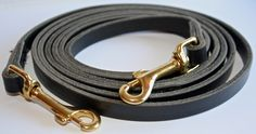 """Leather reins with snap. In black with brass snap."""" Premium line"""" produced in the Netherlands. Tack, Netherlands, Brass, Bracelets, Leather, Jewelry, The Nederlands, The Netherlands, Jewlery"""