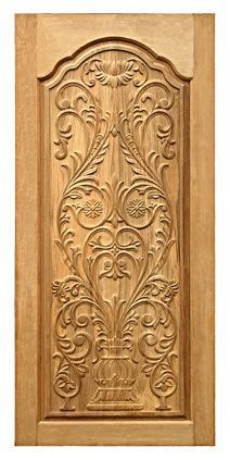 Velman Wood Carving is a one-stop source for end-to-end custom woodcarvings. Specializing in carved wood entrance & interior doors, mantels, shutters and frames Door Design Images, Home Door Design, Pooja Room Door Design, Door Design Interior, House Main Door Design, Interior Doors, Wooden Front Door Design, Wooden Front Doors, Single Main Door Designs