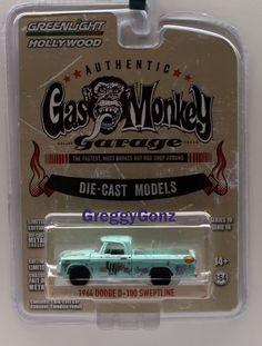 1:64 Greenlight Hollywood Series 10 - 1964 Dodge D-100 Sweptline - Gas Monkey #GreenLight #Dodge