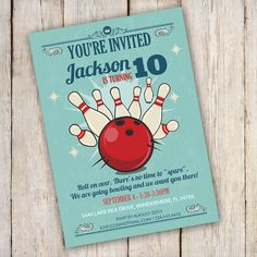 52 best bowling party invitations images on pinterest in 2018