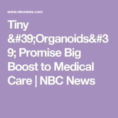 Tiny 'Organoids' Promise Big Boost to Medical Care | NBC News