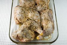 chicken leg quarters roasted with lemon, garlic, & herbs - trying this tonight! - repinning because we made it and it was awesome!