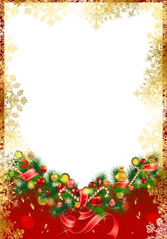 Red Christmas PNG Frame with Gold Snowflakes​ | Gallery Yopriceville - High-Quality Images and Transparent PNG Free Clipart