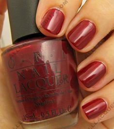 OPI Bastille My Heart, one of my favorite Fall colors!  @Brittney Brengel this is the color I got today! :)