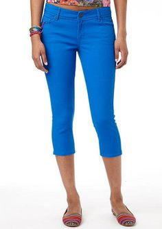 Taylor Super-Skinny Crop Electric Blue - rx