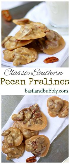 Praline A PERFECT DUPE of the coveted River Street Sweets Pecan Pralines in Savannah and Charleston. My favorite praline recipe!A PERFECT DUPE of the coveted River Street Sweets Pecan Pralines in Savannah and Charleston. My favorite praline recipe! Pecan Recipes, Candy Recipes, Holiday Recipes, Dessert Recipes, Cooking Recipes, Holiday Desserts, Homemade Candies, Fudge, Holiday Baking