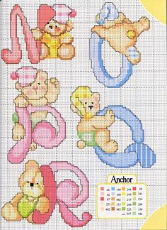 Cross-stitch Abc Bears - part 4