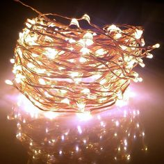 Fairy Lights XX-long 60 ft / 360 Leds. For Room Decorations and Outdoors. Soft Warm White Color Starry Lights on Copper Wire String. For USA, EU, and AU. >>> Review more details here : Christmas decor