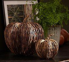 Vine Pumpkins #potterybarn