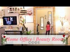 ♥ Home Office Tour ♥ Beauty Room Tour 2015 ♥ - YouTube
