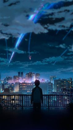 your name & your name . your name wallpaper . your name anime . your name kimi no na wa . your name aesthetic . your name quotes . your name wallpaper aesthetic . your name mitsuha Anime Sky, Anime Love, Galaxy Anime, Manga Anime, Anime Stars, Animes Wallpapers, Cute Wallpapers, Iphone Wallpapers, Iphone Backgrounds