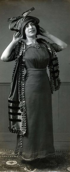 Edwardian dress: Maison Max, 1914.