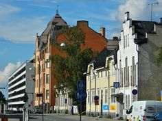 Raastuvankatu street in Vaasa, Finland. Finland Food, Homeland, West Coast, Denmark, Norway, Sweden, Buildings, Industrial, Houses