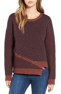 ASTR 'Beverly' Asymmetrical Zip Sweater available at #Nordstrom