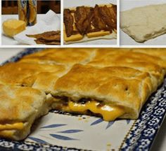 Stuffed Bacon and Cheese Biscuits Easy Cheese Biscuits Recipe, Cream Cheese Biscuits, Biscuit Recipe, Cheddar Cheese, Cheddar Biscuits, Egg Biscuits, Cheese Bread, Breakfast Dishes, Breakfast Recipes