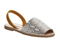 Buy Snake Tan Leather Solillas Solillas Sandals from OFFICE.co.uk.
