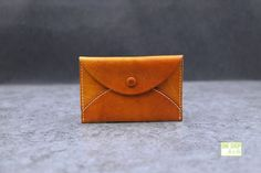 leather card case leather card holder envelop design by ONE23SHOP
