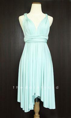 Mint Bridesmaid Convertible Dress Infinity Dress Multiway Dress Wrap Dress Light Green Wedding Dress