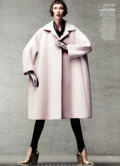 Fall Fashion Trend: Oversized coats, generously cut and paired with a slim pant Jill Sander. Vogue USA October 2012. #coat