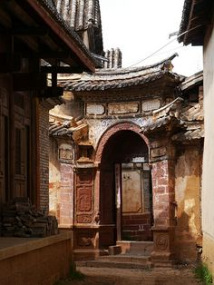 A traditional Chinese courtyard residence entrance in Shanxi Province