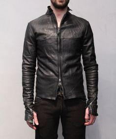 leather jacket construction