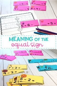 Help first grade students understand the meaning of the equal sign with these related facts matching game. Students will use their knowledge of fact families to match the true equations and make perfect pairs!