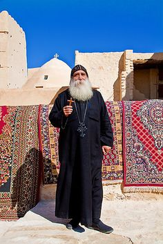 Monastery of St.Anthony. Coptic Monk.  The Coptic Church is one of the most ancient of all churches
