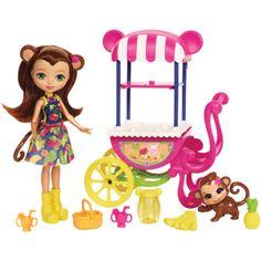 Enchantimals Coffret Plage jouet enfant FKV60 Mini-poup/ée Cameo Crabe et Figurines Animales Chela et Courtney avec accessoires aquatiques
