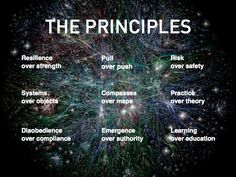 Joi Ito's Nine Principles. Ito: There are nine or so principles to work in a world like this: Resilience instead of strength, which means you want to yield and allow failure and you bounce ba… Best Compass, Arts Integration, Design Thinking, Critical Thinking, 21st Century, Service Design, Case Study, Things That Bounce, Leadership