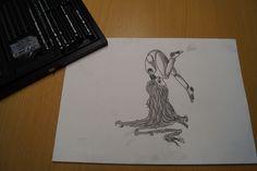 Kohlestift zeichnung made by Wunderdings-Kathi Gmeis// idee Unbekannt Soapstone, Do Your Thing, Crafts, Do Crafts