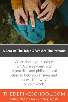 A Seat At The Table | We Are The Parsons | http://www.thedefineschool.com/learn/a-seat-at-the-table/