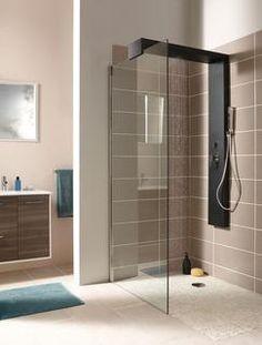 Douche noir sur pinterest rideaux de douche noirs for Pare douche brico depot