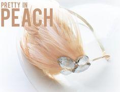 Bridal Feather Headband + Tulle Flower Hair Pins | Emmaline Bride