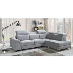 Sedacia súprava, ERMO, látka svetlosivá, pravá Sofa, Couch, Furniture, Home Decor, Settee, Settee, Decoration Home, Room Decor, Home Furnishings