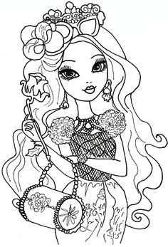 LOTS of Free Printable Ever After High Coloring Pages: Briar Beauty Ever After High Coloring Sheet