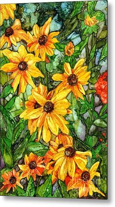 CLUSTER-YELLOW DAISY Free Shipping Stained Glass Supplies