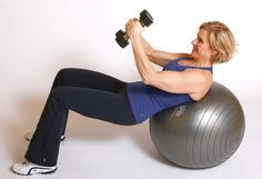 Stability Ball Exercises to Work Your Core—Double-click for the tummy-toning workout
